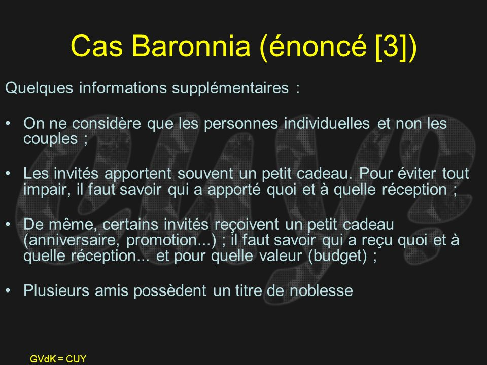 Cas Baronnia (énoncé [3])